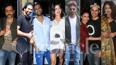 Bollywood celebrities like Hrithik Roshan, Priyanka Chopra, Vicky Kaushal, Tanushree Dutta, Emraan Hashmi, Genelia Deshmukh and others were snapped in the city of dreams, Mumbai. (Photos: Viral Bhayani)