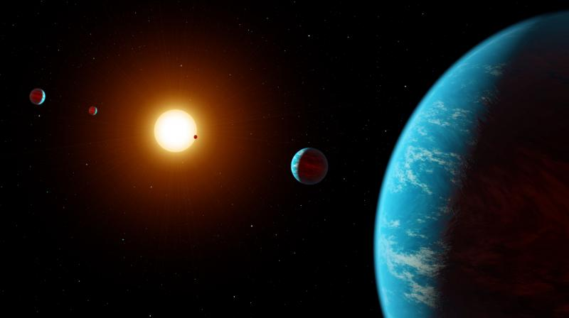 Kepler K2-138 System – Artist's Concept ( Credits: NASA/JPL-Caltech)