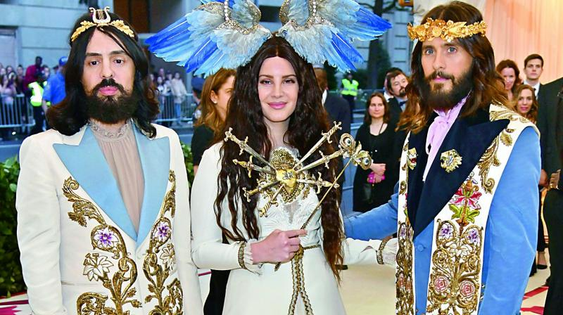 Alessandro Michele, Lana Del Rey and Jared Leto as the Holy Trinity.