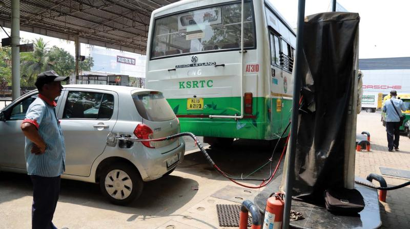 KSRTC runs one bus fuelled by CNG in Kochi while the fuel is increasingly being chosen by private vehicles, too.