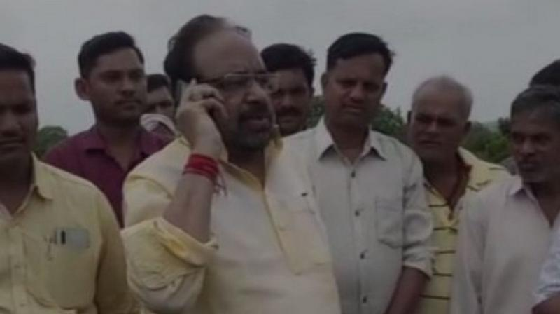 'It was your task to supervise it. We want you to give compensation to the owners of the cows, otherwise, we will launch a protest and pelt stones at the building of the electricity board,' BJP leader Gopal Bhargava said. (Photo: ANI)