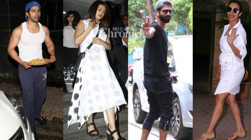 Bollywood stars were seen around various locations in Mumbai on Saturday. (Photo: Viral Bhayani)