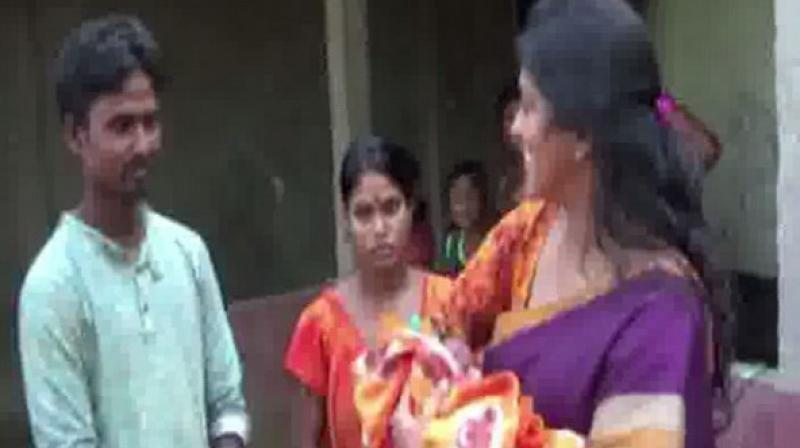 The woman gave birth to a son, whom the couple eventually named 'Shanti'. (Photo: ANI)