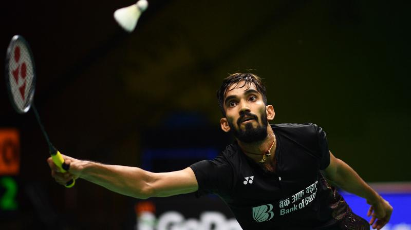 Srikanth, seeded fifth, recovered from a slump during the hard-fought contest to see off Spain's Pablo Abian 21-15 12-21 21-14 in a second-round match that lasted 62 minutes. (Photo: AFP)