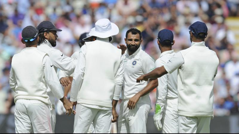 Shami got India the breakthrough after the lunch break. (Photo: AP)