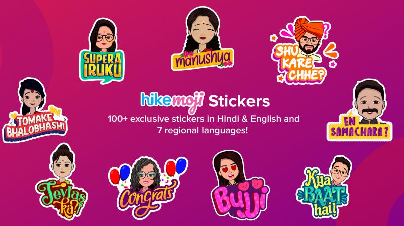 Once the HikeMoji is ready, the app automatically generates over 100 exclusive HikeMoji Stickers that are only available to that user based on the language of their choice.
