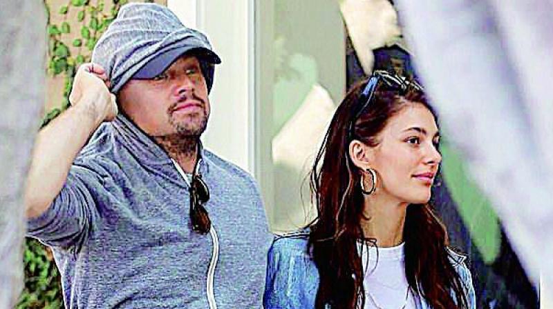 Leonardo DiCaprio with Camila Morrone
