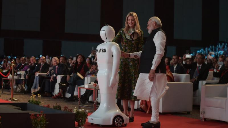 Image result for Made in India robot becomes PM Modi's 'Mitra', Mitra' is a robot,