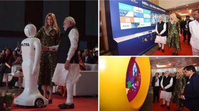 Prime Minister Narendra Modi and Ivanka Trump inaugurated the eighth edition of the Global Entrepreneurship Summit in Hyderabad on Tuesday evening. (Photos: PIB)