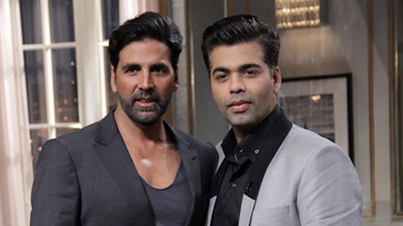 Akshay and Karan Johar.