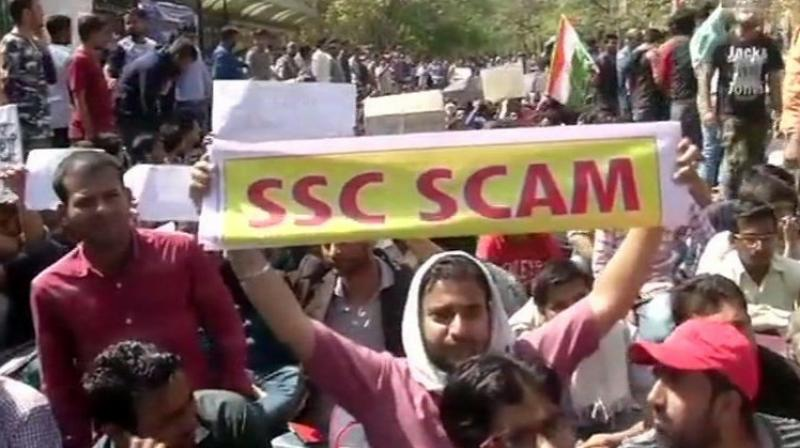 Earlier on February 28, a group of students led by BJP MP Manoj Tiwari took to the streets against the alleged leak in the SSC examination and termed it as 'mass cheating'. (Photo: File)