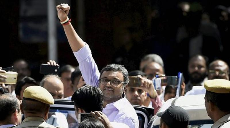 Karti Chidambaram is accused of allegedly receiving Rs 3.5 crore from the Mumbai-based INX Media for helping it get FIPB clearance in 2007. (Photo: PTI)