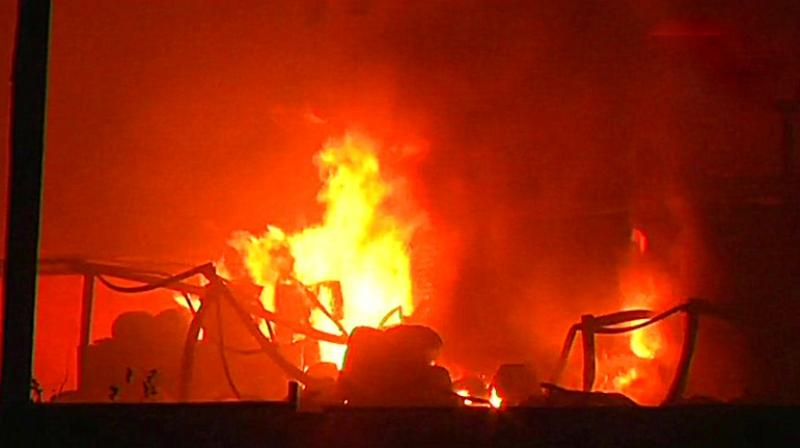 Fire in India industrial area kills three, injures 15