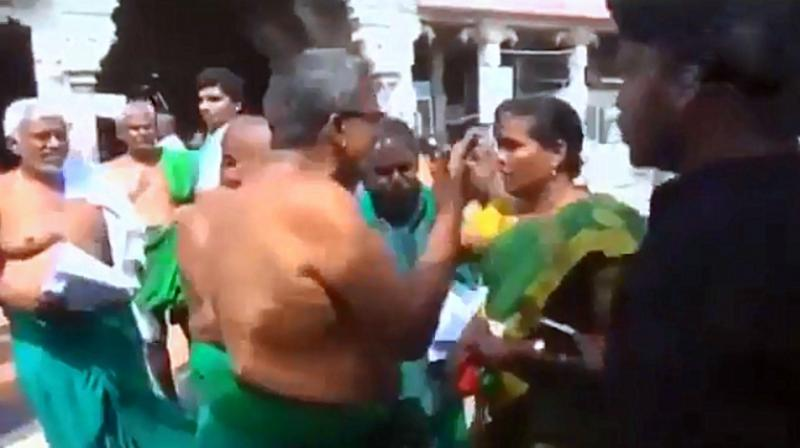 Farmer Leader Slapped By BJP Worker For Allegedly Using Abusive Language