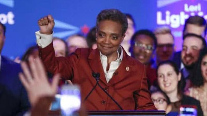Lori Lightfoot during the election night party in Chicago, Illinois. (Photo: AFP)