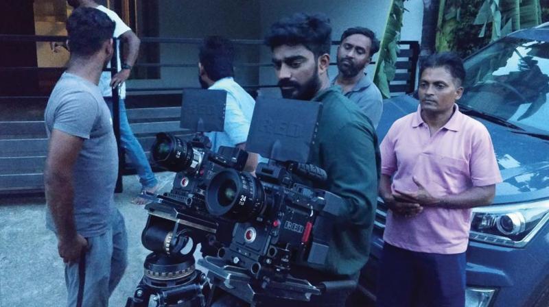 Abhinandhan Ramanujam on the sets of Nine.