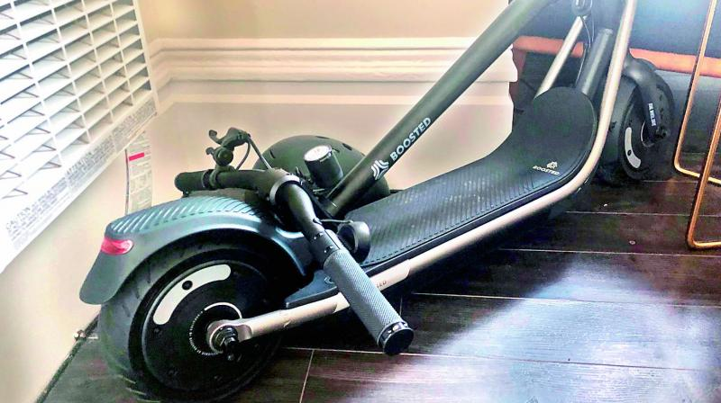 The scooter has three ride modes that respectively max out at 12, 18 and 24 mph.