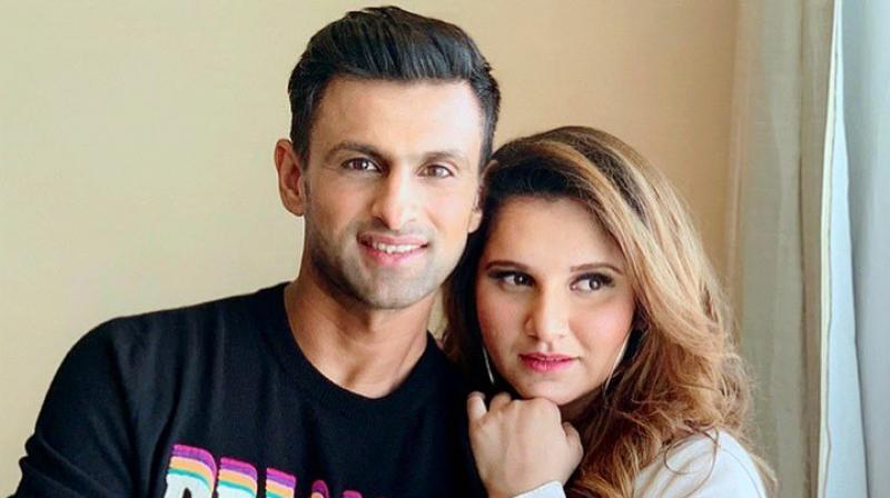 """""""Excited to announce: Its a boy, and my girl is doing great and keeping strong as usual #Alhumdulilah. Thank you for the wishes and Duas, we are humbled 🙏🏼 #BabyMirzaMalik,"""" wrote Shoaib Malik on Twitter. (Photo: Twitter / Sania Mirza)"""