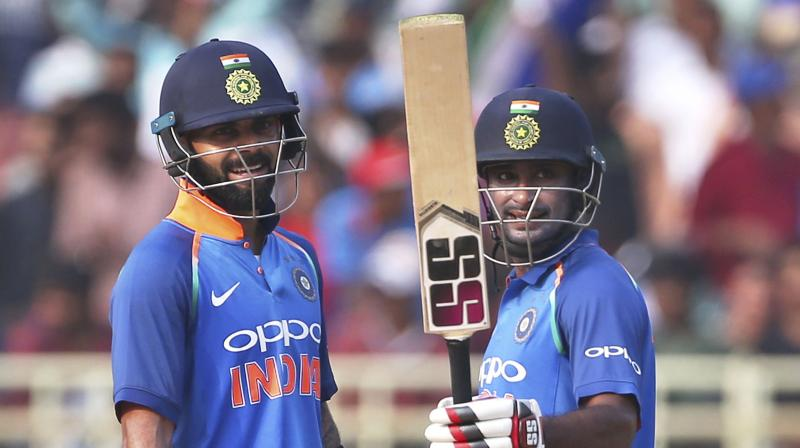 """(Ambati) Rayudu has taken his chance with both hands. We need to back him till the 2019 World Cup. He reads the game well, so we are happy that someone intelligent is batting at number four,"" said Virat Kohli. (Photo: AP)"
