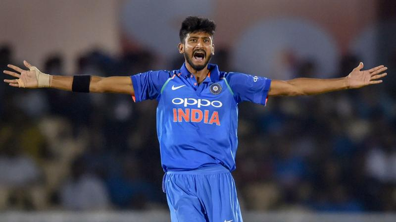 """Khaleel Ahmed violated Article 2.5 of the Code, which relates to """"using language, actions or gestures which disparage or which could provoke an aggressive reaction from a batter upon his/her dismissal during an international match"""". (Photo: PTI)"""