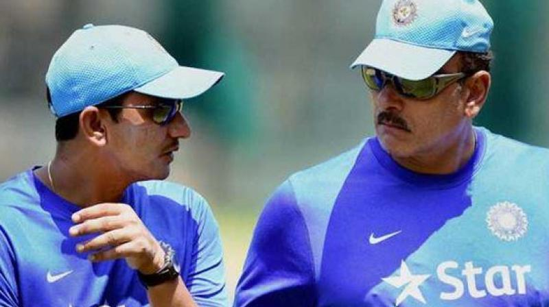 The Indian support staff comprises batting coach Sanjay Bangar, bowling coach Bharat Arun and fielding coach R Sridhar. (Photo: Twitter)