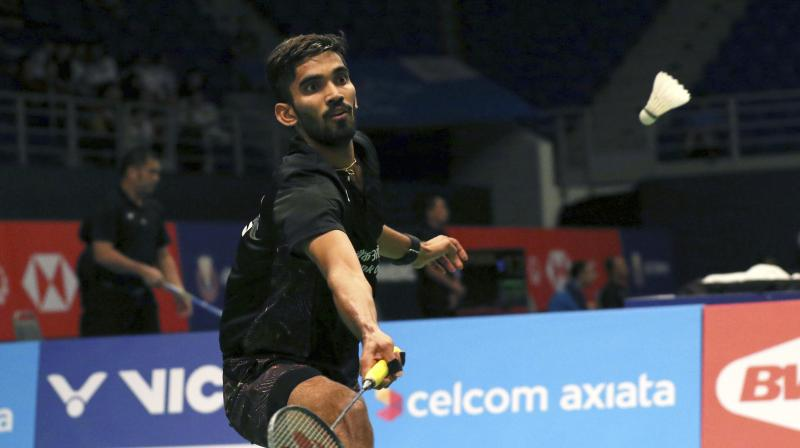 Srikanth  said he is drawing inspiration from other top players such as Kento Momota, Shi Yuqi and Viktor Axelsen to come back into top 3. (Photo: AP / File)