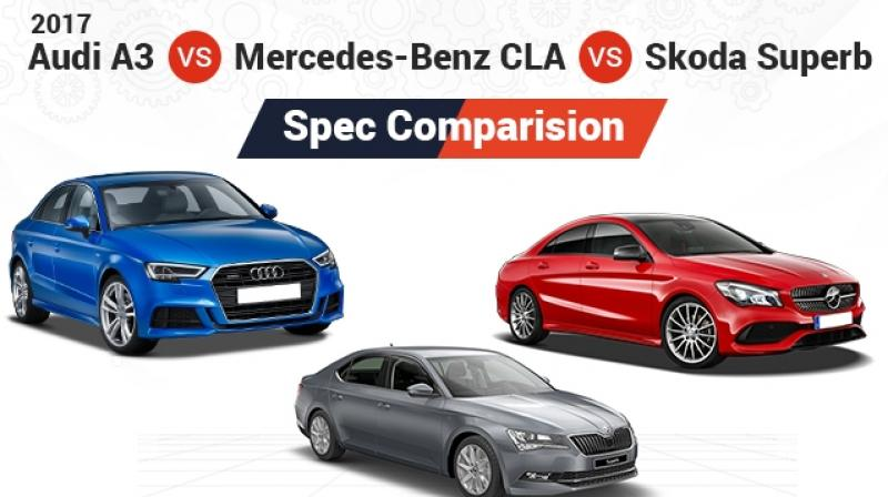 Let's check the specifications of all three cars and see how they fare against each other.
