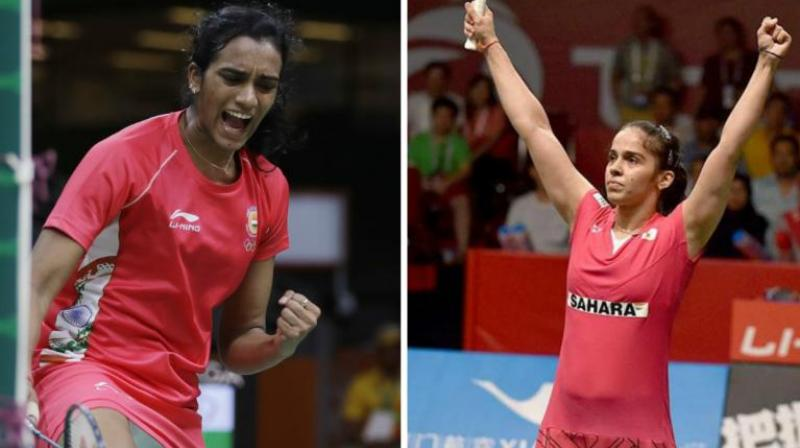Olympic and World Championship silver medallist Sindhu, who had reached the semifinals last year, will open her campaign against South Korea's Sung Ji Hyun, while Indonesia Masters champion Saina takes on Scotland's Kristy Gilmour in the first round. (Photo: AP / AFP)