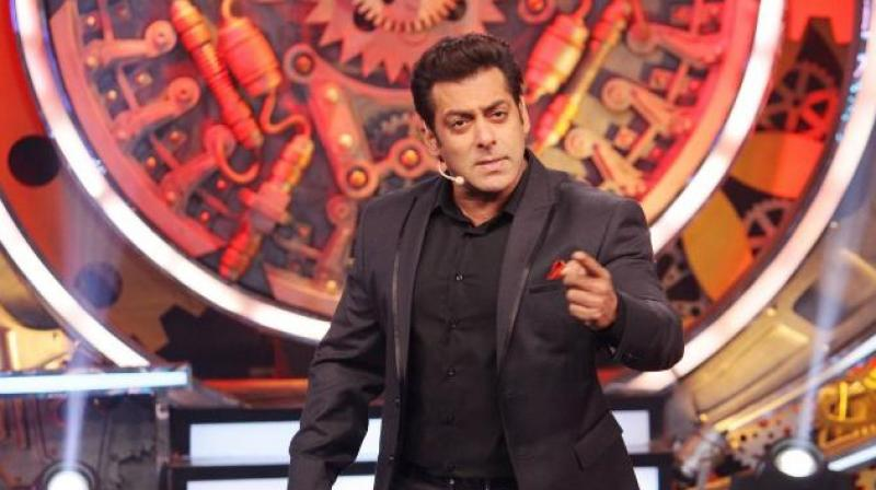 Salman Khan on a TV show.