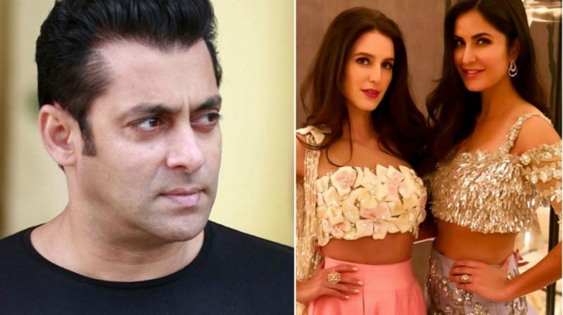 Salman Khan in a photoshoot, Katrina and Isabelle pose for the cameras.