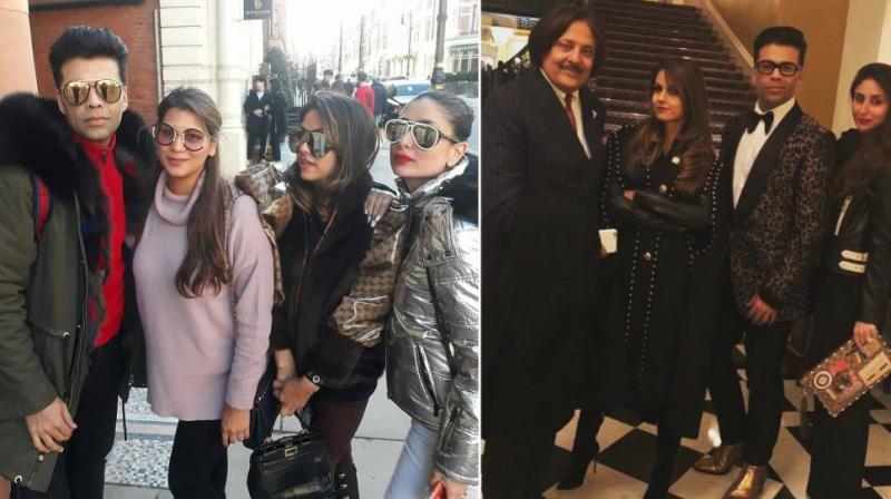 Karan Johar and Kareena Kapoor Khan in London.