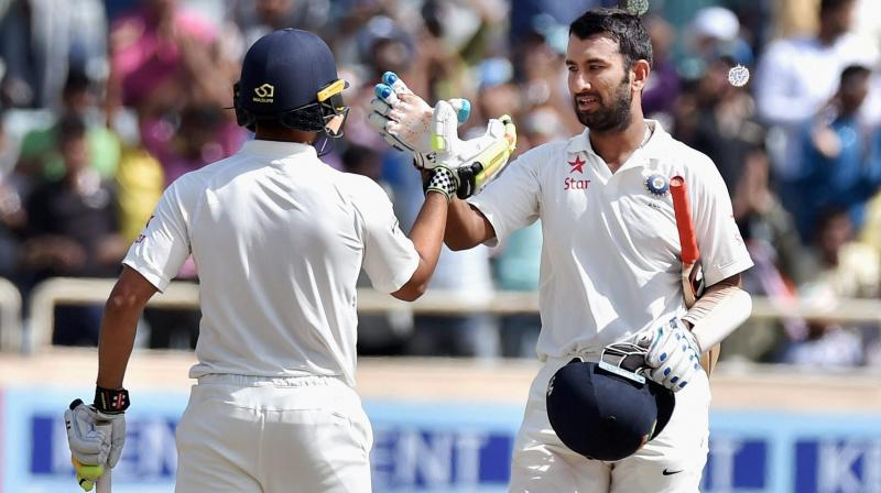 Playing through the whole day, Cheteshwar Pujara remained unbeaten on 130 in his stay at the crease for nearly eight hours. (Photo: PTI)