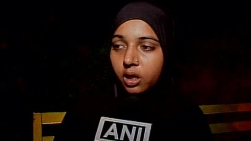 The UP police has reportedly assured Amreen that they would take action under the law. (Photo: ANI/Twitter)
