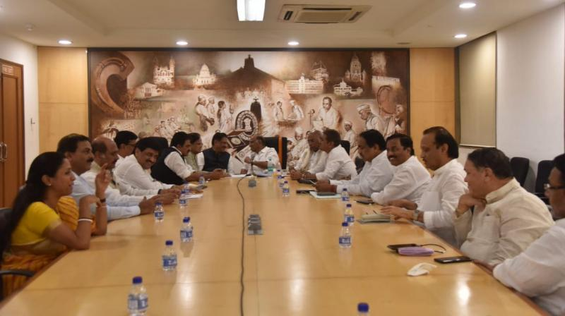 NCP had said that it will take a decision on government formation in Maharashtra by Tuesday after holding consultations with its ally Congress. (Photo: ANI)