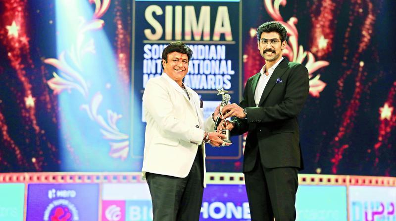 Balakrishna and Rana Dagubatti at SIIMA 2018