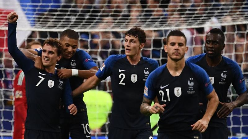 The French found themselves on the backfoot in the first half but did not lose confidence even when the Germans came close to a second goal. (Photo: AFP)