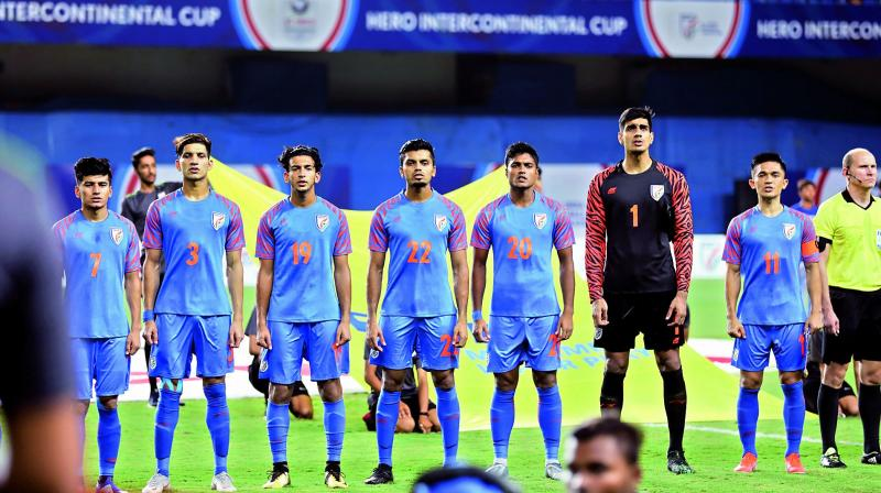 India are in Group 'E' with Qatar, Oman, Afghanistan and Bangladesh.   (AIFF)