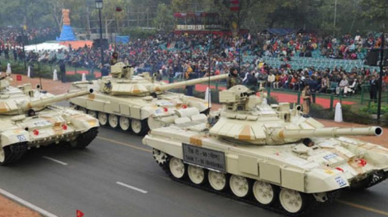 At present, India's armoured regiments, comprising mainly T-90, T-72 and Arjuna tanks, have much more superiority over Pakistan, but sources said Islamabad was seriously planning to bridge the gap at the earliest. (Representational Image | PIB)