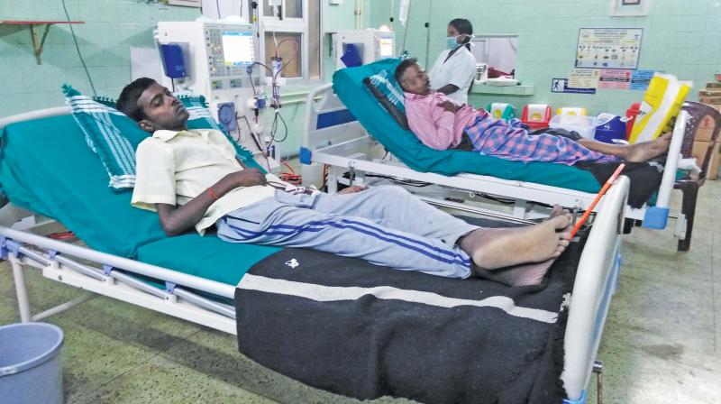 """""""We have nine machines in our center. All our machines are full with the increase in the number of renal failure cases,"""" Dr.S. Vijayabhaskar of Cauvery hospital told Deccan Chronicle. He added, """"Our hospital has 70 patients on the waiting list so far. The numbers will increase due to more cases reported at our center for dialysis."""""""