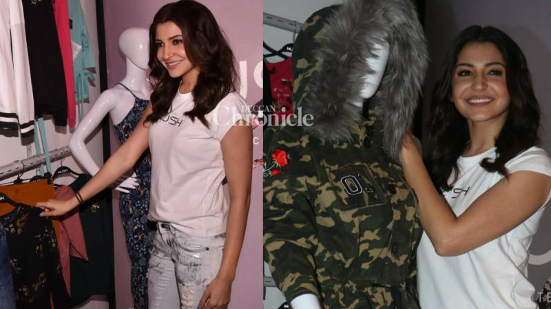 Anushka Sharma became the latest celebrity to launch her fashion label, unveiling her brand 'Nush' at an event in Mumbai on Tuesday. (Photo: Viral Bhayani)