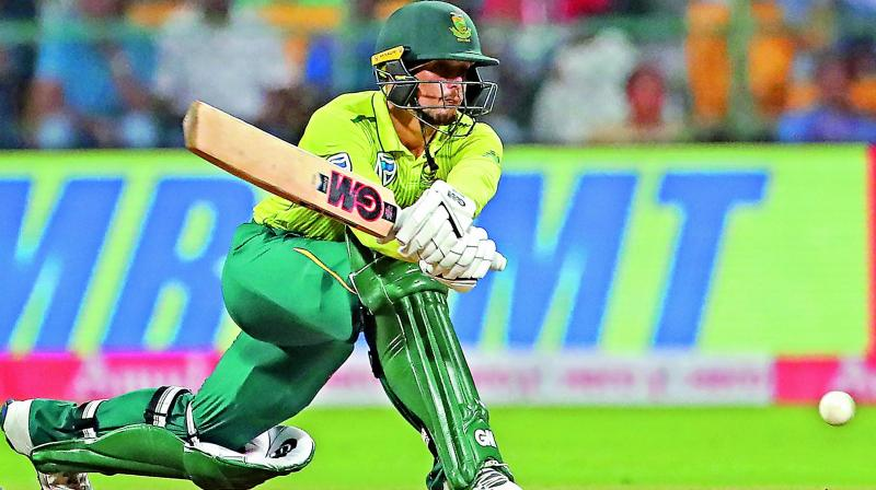 Quinton leads fight back as South Africa win third T20 to level the series 1-1