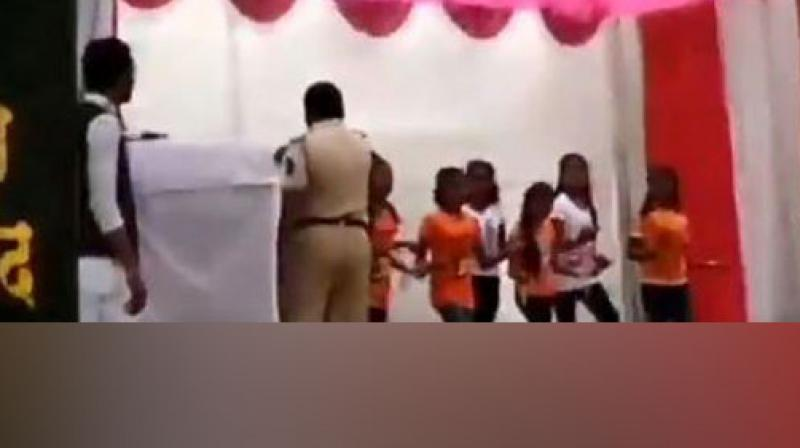 Pramod Walke, who was in an inebriated state, came under the radar of the authorities after his shameful act was caught on camera in a school situated in Nagpur. (Photo: ANI)