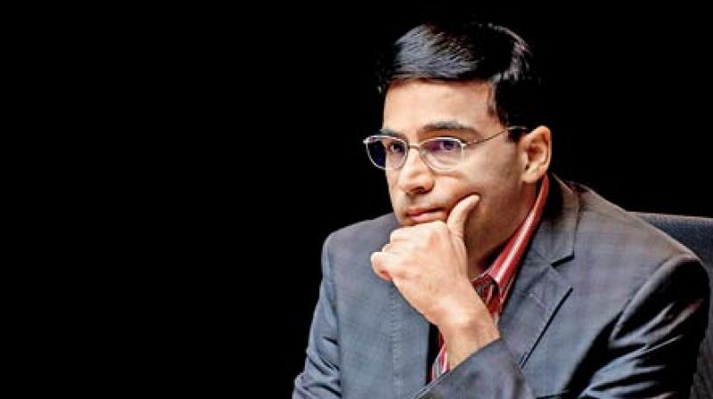 Viswanathan Anand could not continue to replicate his form as he secured a disappointing eight placed finish out of 10 players in the Leuven leg of the Grand Chess Tour recently with a score of 8.0/18.(Photo: AFP)