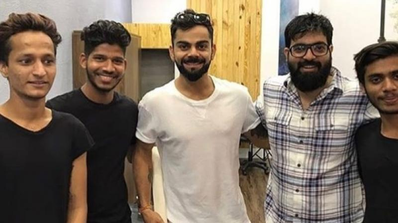 Virat Kohli, the Indian cricket team skipper, got a new tattoo on his left shoulder as he paid a visit to Aliens Tattoo in Bandra to get inked. (Photo: Instagram / @alienstattooindia)