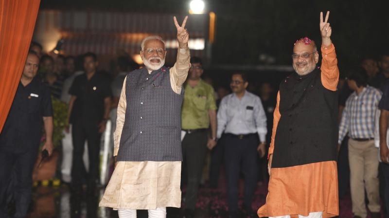 Before taking the oath of office, the prospective ministers will meet with Prime Minister Narendra Modi at 7, Lok Kalyan Marg here over tea at 4:30 pm, sources said. (Photo: PTI)