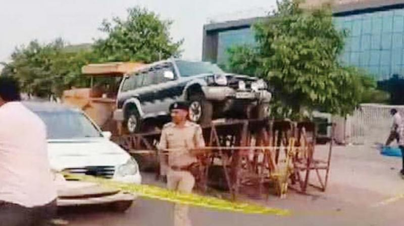 The incident happened while shooting a car blast in Bagalur Industrial Area. The debris hit a family of four, killing Sumera and Arya on the spot, while her husband and another child was injured.