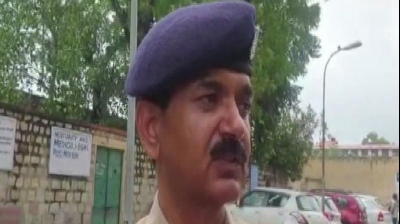 Additional DCP Bajrang Singh said, 'Yesterday, a woman, who was the rape survivor came inside the police station asking for SHO. The SHO was not there and after a while, she went outside the police station and sent her child to bring a pen for her. After that, she set herself ablaze.' (Photo: ANI)
