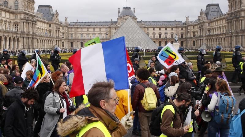 Other gatherings were planned on Saturday in several French cities such as Bordeaux and Toulouse. (Photo:AP)