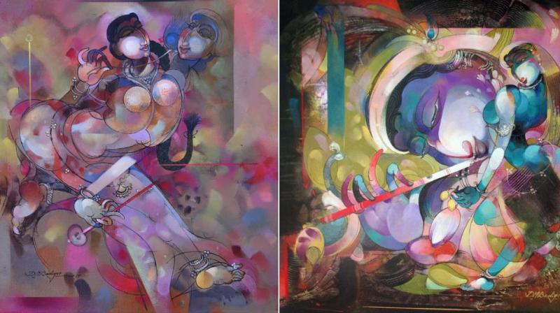 Paintings by Karnataka based artist Devendra Badiger.