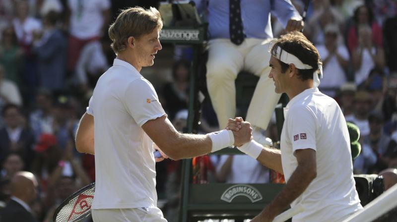 Defending champion Federer, chasing a 21st Grand Slam title, lost a Court One epic, 2-6, 6-7 (5/7), 7-5, 6-4, 13-11 as 32-year-old Anderson became the first South African in the Wimbledon semi-finals since Kevin Curren in 1983. (Photo: AP)